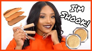FENTY SHOOK My Wig Off! FENTY Beauty Pro Filt'r Concealer & Setting Powder First Impressions!