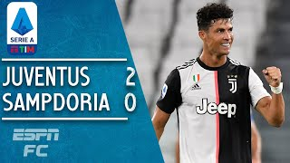 Juventus 2-0 Sampdoria: Cristiano Ronaldo and Juve make it nine titles in a row | Serie A Highlights