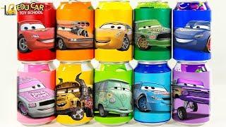 Learning Color Disney Pixar Cars Lightning McQueen Mack Truck magic juice Play for kids car toys