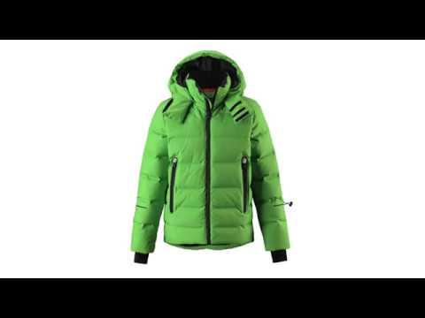 REIMA Wakeup Boys Down Ski Jacket in Green