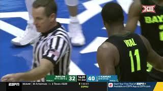Baylor vs Kansas Men's Basketball Highlights