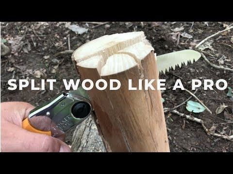 Split Wood With Your Saw - No Axe No Problem