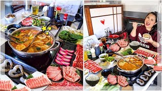 HOT POT SHABU SHABU MUKBANG 먹방 EATING SHOW!