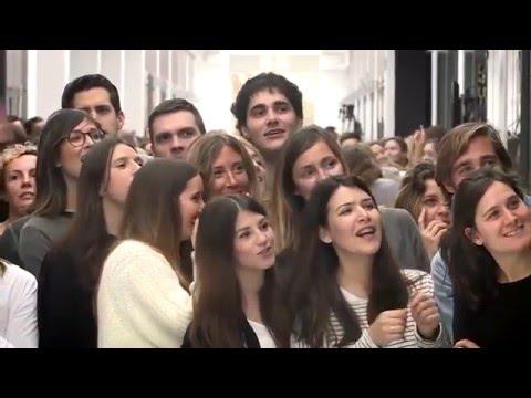 El flashmob que hizo llorar a Amancio Ortega