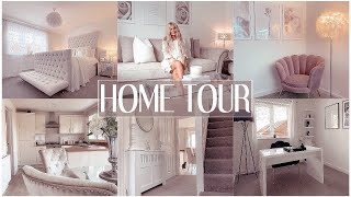 FULL HOME TOUR | LUXE ON A BUDGET | white & grey interior/shop my home ✨