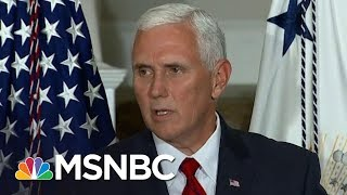 Mike Pence Extremism, Unpopularity Overlooked In President Trump's Shadow   Rachel Maddow   MSNBC