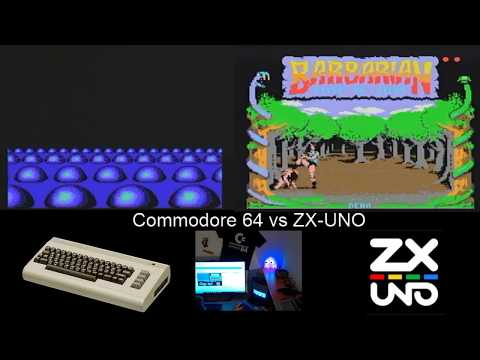 Commodore 64 real vs ZX-UNO. Último test de pantalla