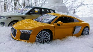 Car Toys Under Snow + Toy Cars Transportation Video for Children