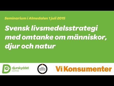 Seminarium: Svensk livsmedelsstrategi med omtanke om människor, djur och natur
