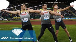 The 8 furthest javelin throws in IAAF Diamond League history