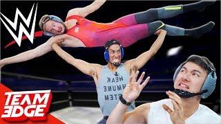 2 vs 1 SMACKDOWN Wrestling Match!!