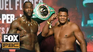 Deontay Wilder, Luis Ortiz make weight for their heavyweight title bout | WEIGH-INS | PBC ON FOX