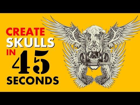 SKULL CREATOR TOOL Walkthrough – Create Skulls For Print on Demand Easily!