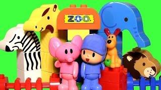 MegaBloks Pocoyo at the Zoo with Elly the Elephant - Parque Zoológico Juguete de Bloques
