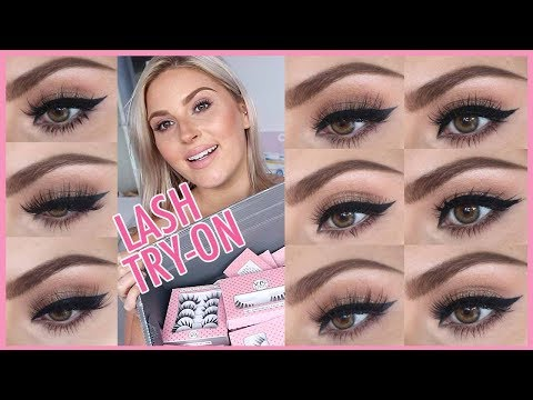 xoBeauty Lash Try On! ?? Trying On 27 Pairs Of False Eyelashes! ?