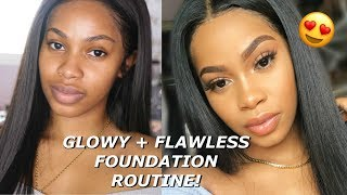 Everyday GLOWY + FLAWLESS FULL COVERAGE Foundation Routine for Brown Skin