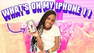 Whats on my iPhone 11 pro