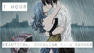 1 HOUR OF BEAUTIFUL, CUDDLING RAIN SOUNDS FOR SLEEP, COMFORT, & RELAXATION. DARK SCREEN ♡