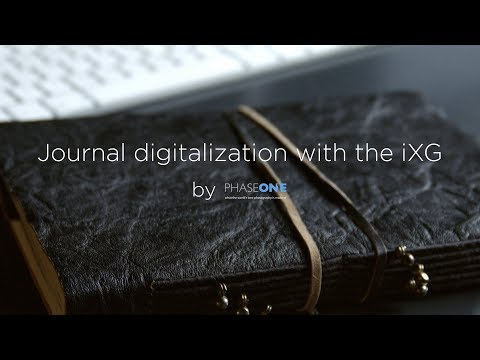 Journal digitalization with the iXG | Phase One