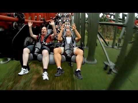 Луда атракција во забавен парк во Кина, далеку пострашна од обична луда железница
