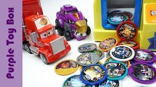 Dinosuar Coin Crane Machine, Dino Core Disc And Tuner Toys