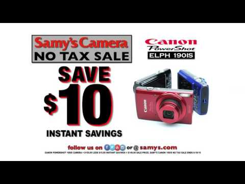 Great Deals on Canon Point & Shoot Cameras at Samy's Camera No Tax Sale!