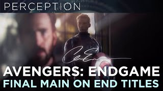 Avengers Endgame Main On End Title Sequence