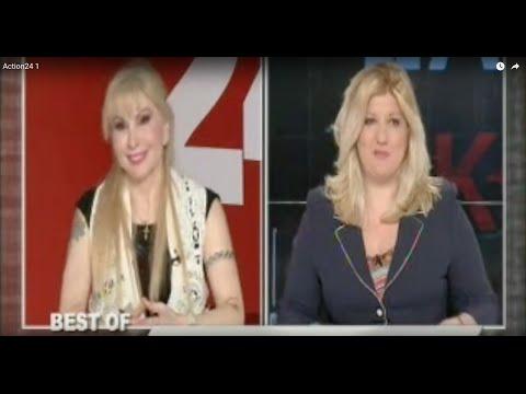 Η Σοφία Παπαδοπούλου σε ρεπορτάζ στην εκπομπή του Γιώργου Τράγκα  - Ελεύθερος Σκοπευτής.