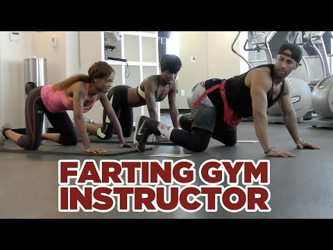 FARTING GYM INSTRUCTOR PRANK!