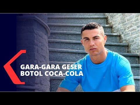 Cristiano Ronaldo Geser Botol Coca-Cola Saat Konpers, Saham Coca-Cola Langsung Terjun