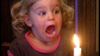 TRY NOT TO LAUGH OR GRIN -  Funny Kids trying to Blow out candles Baby Fun and Fails Videos