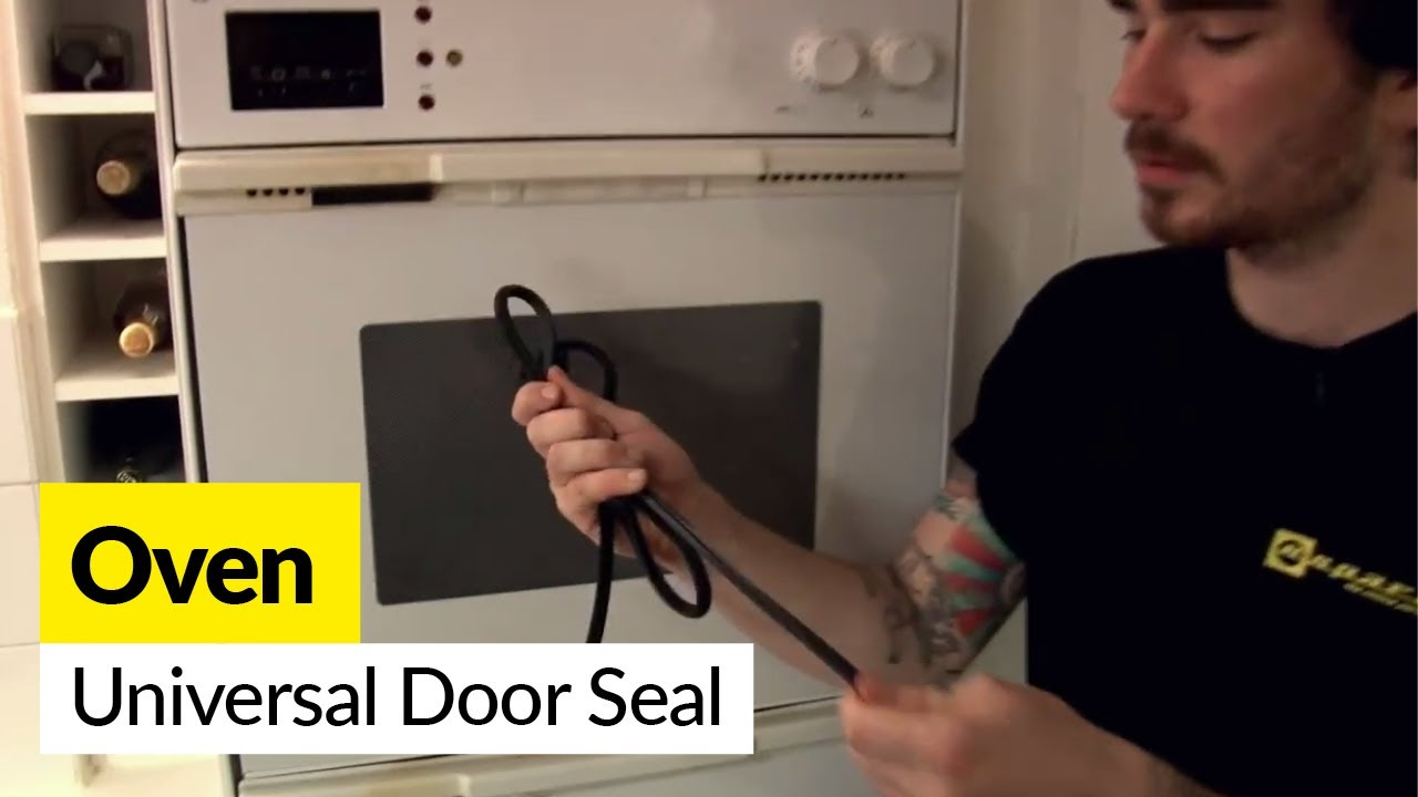 How To Fit Universal Oven Door Seals On A Cooker Youtube