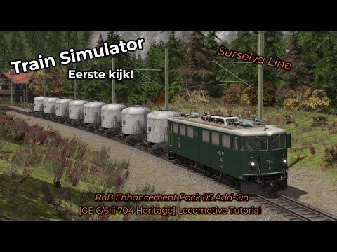 Train Simulator -- Eerste Kijk! #001 -- RhB Enhancement Pack 05 Add-On