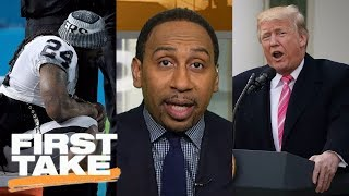 First Take responds to President Trump's tweet about NFL anthem policy   First Take   ESPN
