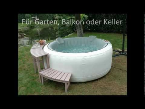 whirlpool aufblasbar f r garten balkon oder keller musica movil. Black Bedroom Furniture Sets. Home Design Ideas