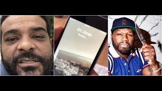50 cent tries to facetime Jim jones says he's gonna smoke him!