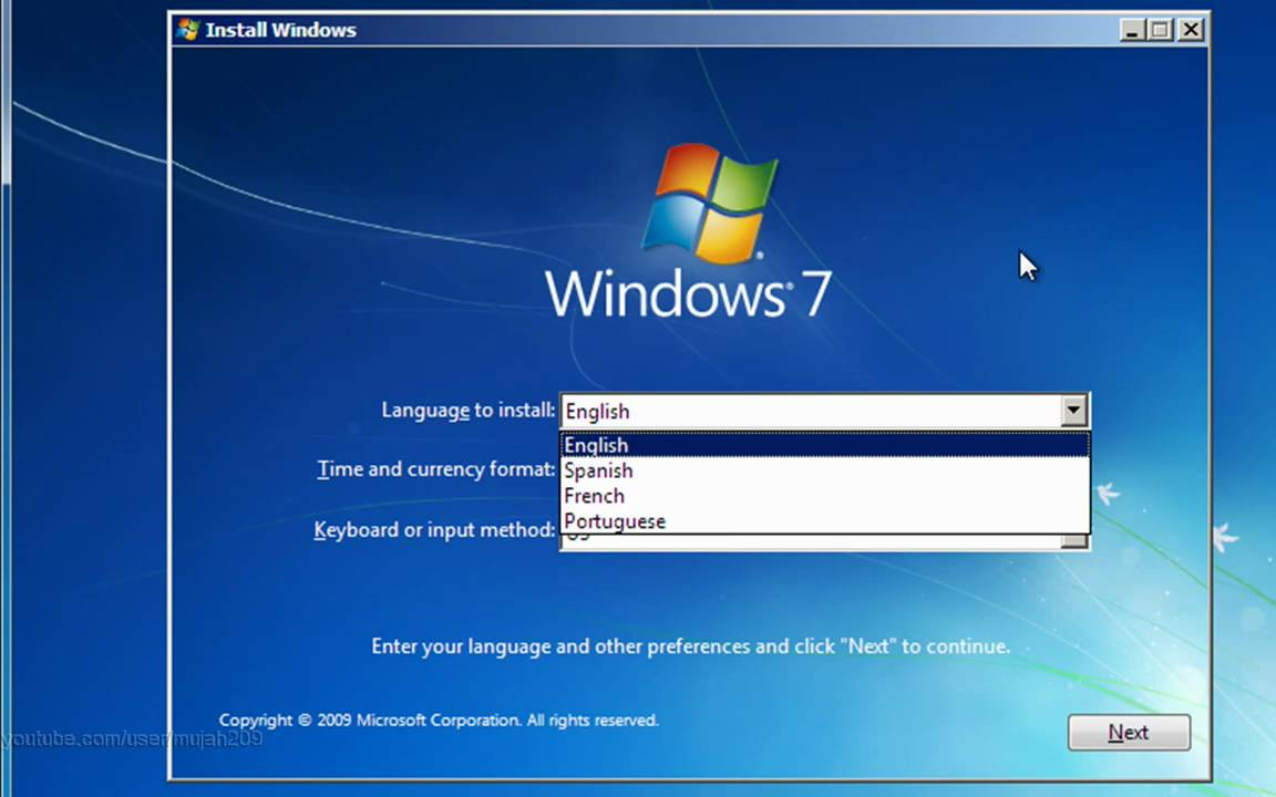 How To Install Windows 7 Full Tutorial Hd Youtube