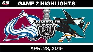 NHL Highlights | Avalanche vs. Sharks, Game 2 - April 28, 2019