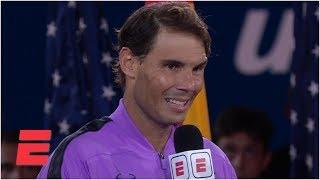 Rafael Nadal gives emotional speech after beating Daniil Medvedev   2019 US Open Interviews
