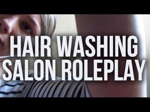 [BINAURAL ASMR] Hair Washing Salon Roleplay (water, suds, scritchin's, softly spoken, humming)