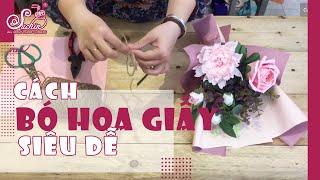 Hướng dẫn bó hoa đơn giản cho ngày 20/ 10 - HOA GIẤY SUCHIN -