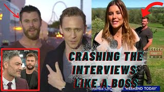 Chris Hemsworth Crashing Interviews | Thor Funny Moments | Marvel 2020