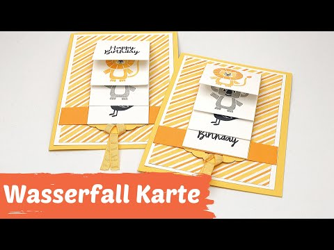DIY-Waterfall Card--Wasserfall Karte-Faltkarte mit Trick-How to