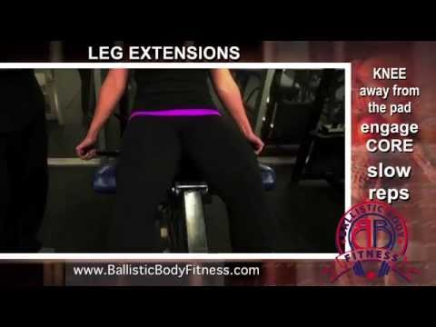 Leg Extensions - BBF 90 Day Fitness Challenge Instruction Video #41