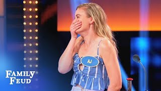 AJ's podium plan IMPLODES... | Celebrity Family Feud