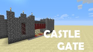 Minecraft:How to build a mini castle gate!