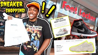 I WON 3 PAIRS! SNEAKER SHOPPING AT THE MALL & COPPING THE MOST HYPED SNEAKER OF 2018? DID YOU SLEEP?