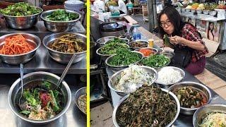 Eating Bibimbap at Gwangjang Market & Other Korean Street Food