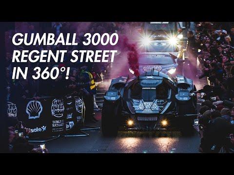 Gumball 3000 on Regent Street in 360 degrees!