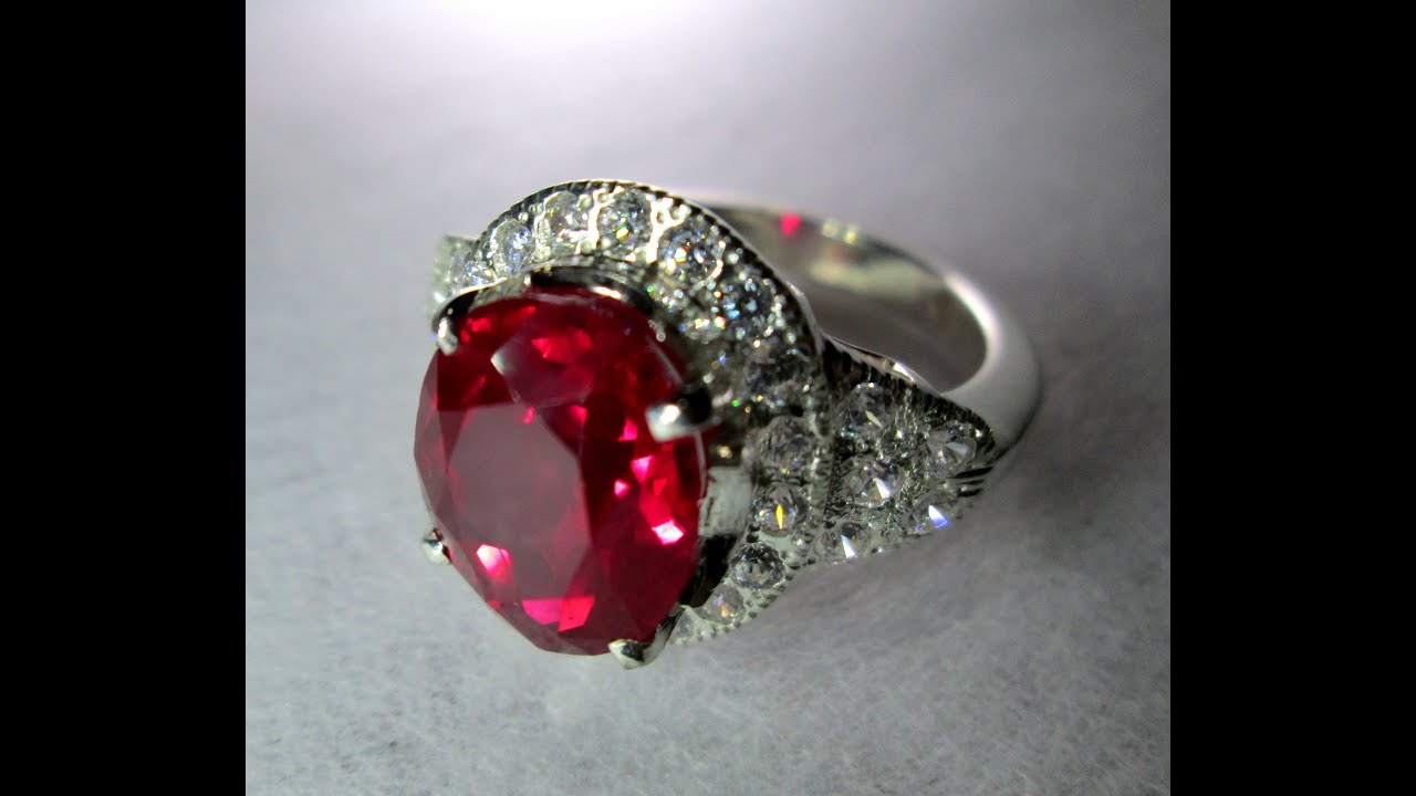 Natural Unheated Burmese Pigeon S Blood Ruby Ring 8 15 Cts